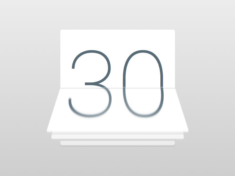 Calendar Icon agenda schedule time trial days clean white icon calendar