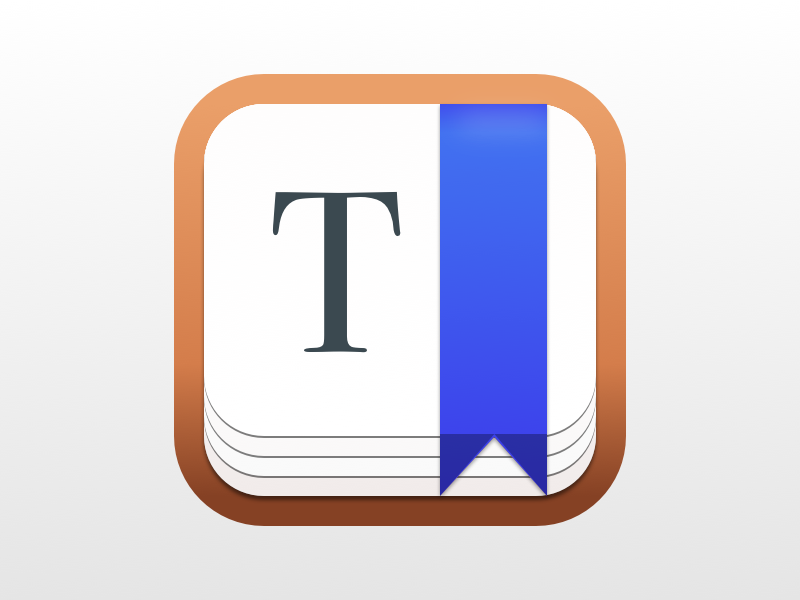Type Mac App Icon (Training) editor wood paper bookmark letter text type icon app mac