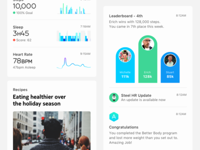 Health Mate — Timeline Items