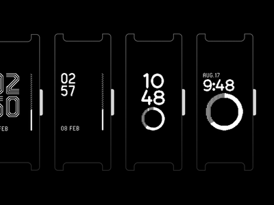 Pulse HR - Watchface Explorations (2/2) ⌚️ ring clock time band watchface watch fitness tracker activity tracker fitness activity
