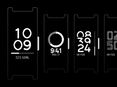 Pulse HR - Watchface Explorations (1/2) ⌚️ wristband ring time watchface watch clock band fitness tracker activity tracker
