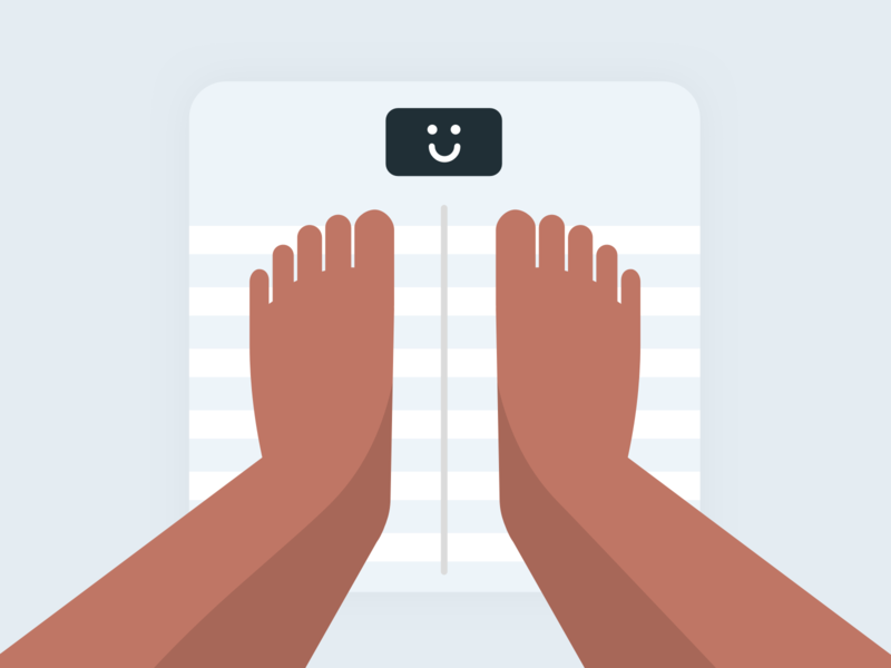 Happy Scale · Illustration legs feet emoji smiley face smiley smile illustration tech health connected devices smart connected scale