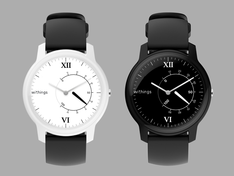 Withings Move · Custom Internal Model ⌚️ tracker wristwatch time clock black serif dark gothic smartwatch connected analog watch