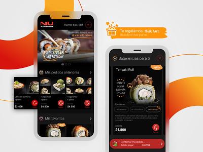 NIU Sushi · Mobile design mobile sushi ux food concept ui design ui