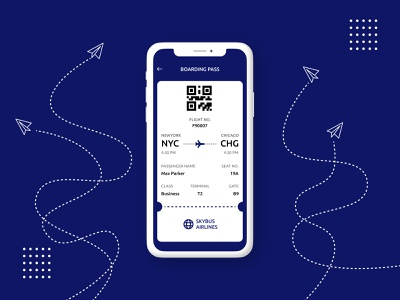 Day #24 - Boarding Pass - Daily UI Challenge mobile design day24 boarding pass mobile app iphone x ios app app design mobile mobile ui dailyuichallenge uxdesign illustration uidaily figmadesign uidesign dailyui webdesign design figma
