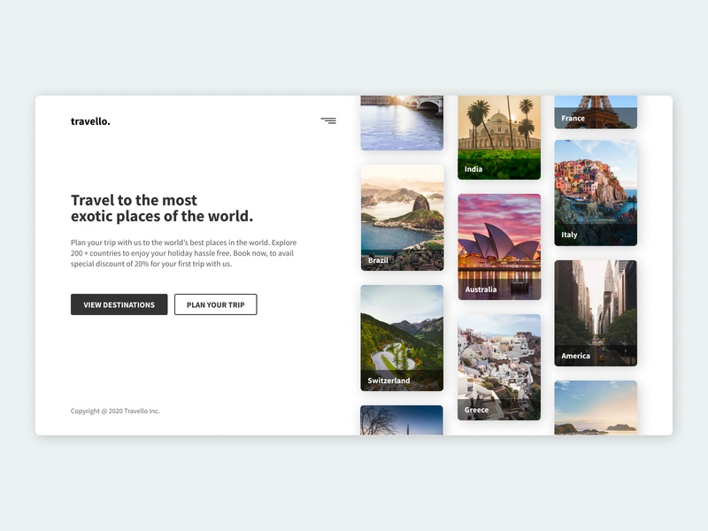 Travello Landing Page - Hero Section Design website mobile app designer travel and tour cities product design travel website travel app web design app design logo branding dribbble illustration uxdesign figmadesign webdesign uidesign design figma