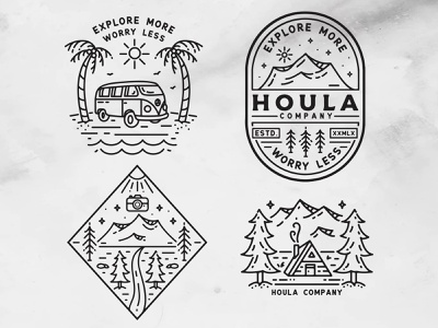 Designs for Houla Company (Clothing) icon adobe photoshop adobe illustrator branding design logo vector illustration