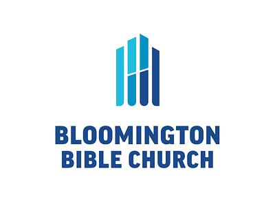 Bloomington Bible Church Logo window stained glass church design church logo logo
