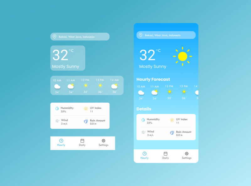Climatte Weather Forecast Application (Light Theme) forecast weather app weather mobile app design mobile ui mobile mobile app mockup ui design ui