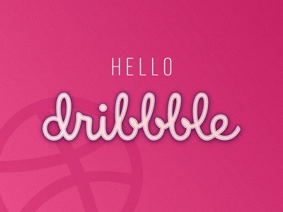 Hello Dribbble! dribbble ball greetings welcome nice hello debut
