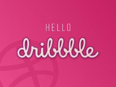 Hello Dribbble! dribbble ball greetings welcome nice hello debut