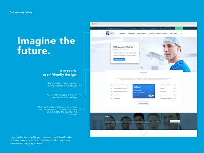 Imagine the Future. collectively made design presentation ux ui slide pitch concept redesign future medical proposal