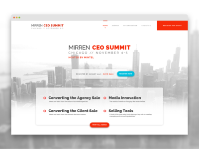 Event Homepage Redesign website event registration ceo summit web design web screen design ux ui