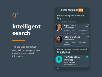01 - Intelligent Search search campustalk app design screen mobile app product design ux ui