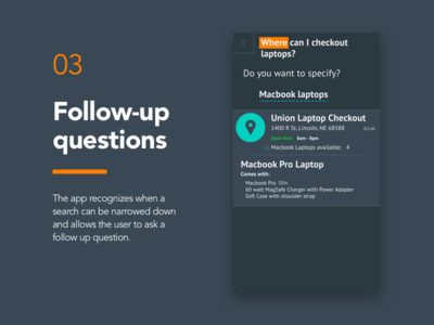 03 - Follow-up Questions search campustalk app design screen mobile app product design ux ui