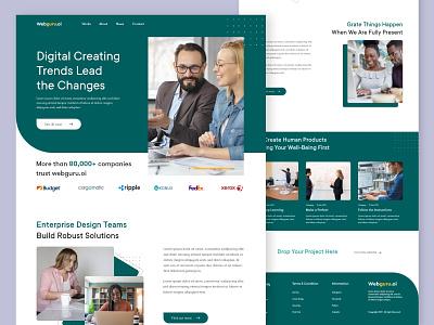 Webguru.oi || Landing Page uiguru uihut uichallange dailyui business logo webdesign minimal landingpage uiux uiux design uidesign branding