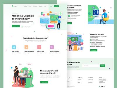 Tripple    Landing Page user exprience digital agency marketing tranding dailuui uichallange business webdesign landingpage uiux design minimal branding