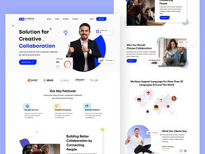 Online Collaboration platform daily ui challange uitrend online platfrom collaboration webdesign uiux landingpage uiux design minimal uidesign branding