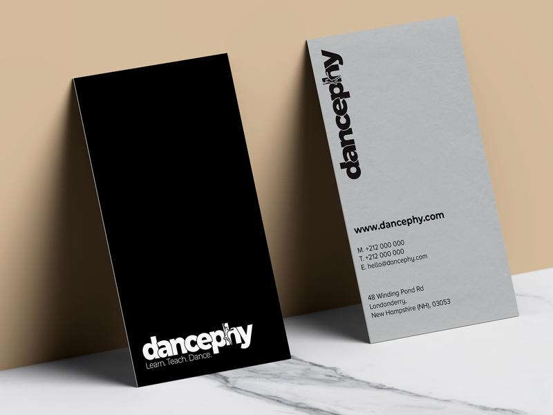Business card design for Dancephy brand identity brand design identity design business card design business business cards business card branding brand