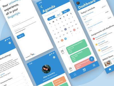 Binus Buddies Student App UI Design