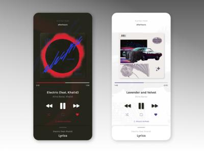 Daily UI 009: Music Player #DailyUI