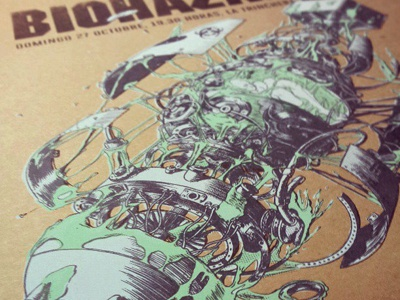 Biohazard Screenprinted Poster