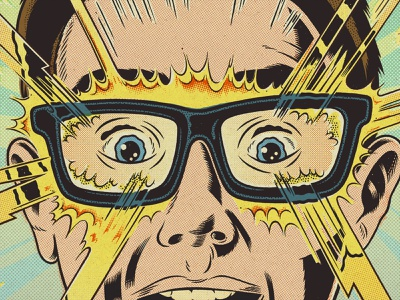 Ray-Ban Superpowers kid eyes lightning bolt superpowers character design comic cartoon glasses ray ban drawing poster design poster commercial campaign advertising graphic design illustration ink bad company