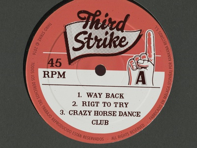 We ♥︎ Labels old school retro music type side a 45 rpm 33 rpm 12 inches vinyl print typography lettering logo album artwork label design print design illustration graphic design ink bad company