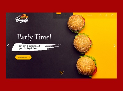 Website Landing Page - Hot Burgers