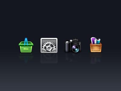 MetaPhoto UI Icons ui icons client metaphoto settings take photo photo folder purchase iphone 64px