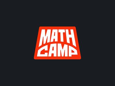 Math Camp  logotype camp mathcamp patch