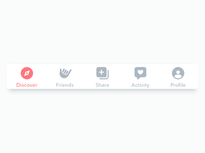 Tab Bar Icons profile notifications share friends discover ui tab tabbar icons explorations