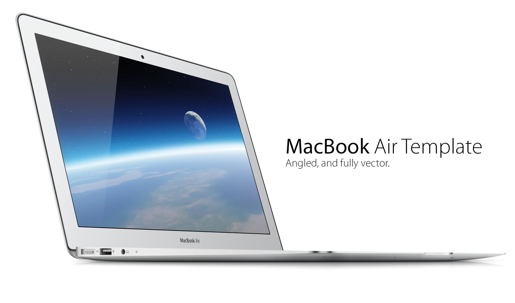 vector macbook air template by kris mendoza dribbble dribbble