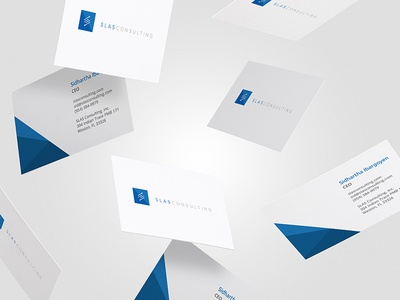 SLAS Consulting - Business Cards cloud networking it telecommunications identity business cards consulting logo branding brand