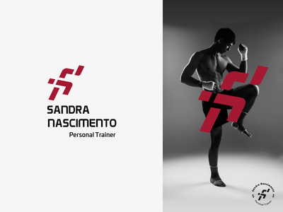 Sandra Nascimento Personal Trainer sprint gym visual identity logo fitness design logo design personal trainer