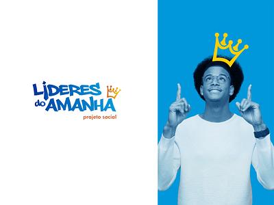 Lideres do Amanha   Leaders of Tomorrow social project logo identidade visual logo design
