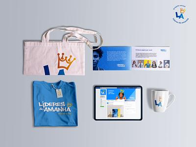 Lideres do Amanha   Leaders of Tomorrow branding identidade visual social project design logo design