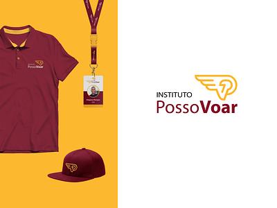 Instituto Posso Voar   Can Fly Institute social entrepreneurship branding design identidade visual logo design