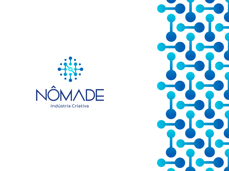 Nômade Indústria Criativa | Nomad Creative Industry creative industry connections sphere visual identity identidade visual design logo design