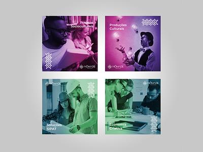 Nômade Indústria Criativa   Nomad Creative Industry social media creative industry visual identity identidade visual design logo design