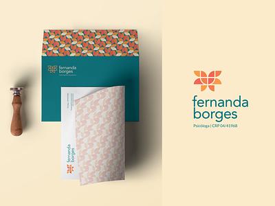 Fernanda Borges Psicóloga psychology logodesign logotype psicologia visual identity logo design logo