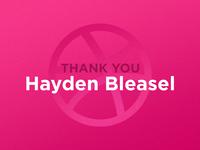 ♥️ Thank You Hayden 🎉