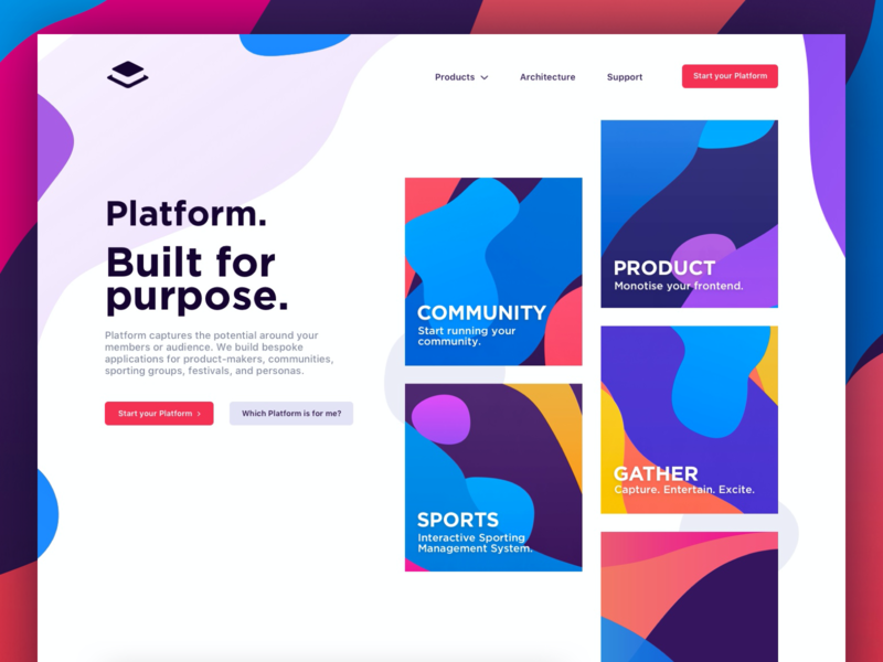 Platform (Sneak Peek) app website sneak-peak product platform illustration branding design community branding