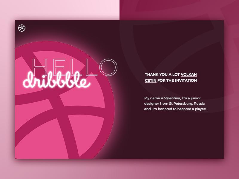 Hello Dribbble! debut dribbble hellodribbble shot firstshot minimal website web ui design