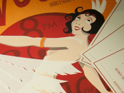 Va! Va! Voom! Burlesque burlesque lindy hop swing dancing dance illustration graphic design marketing