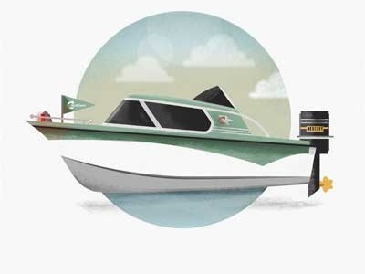 Muscle Boat motor boat boat vector illustration graphic design illustration