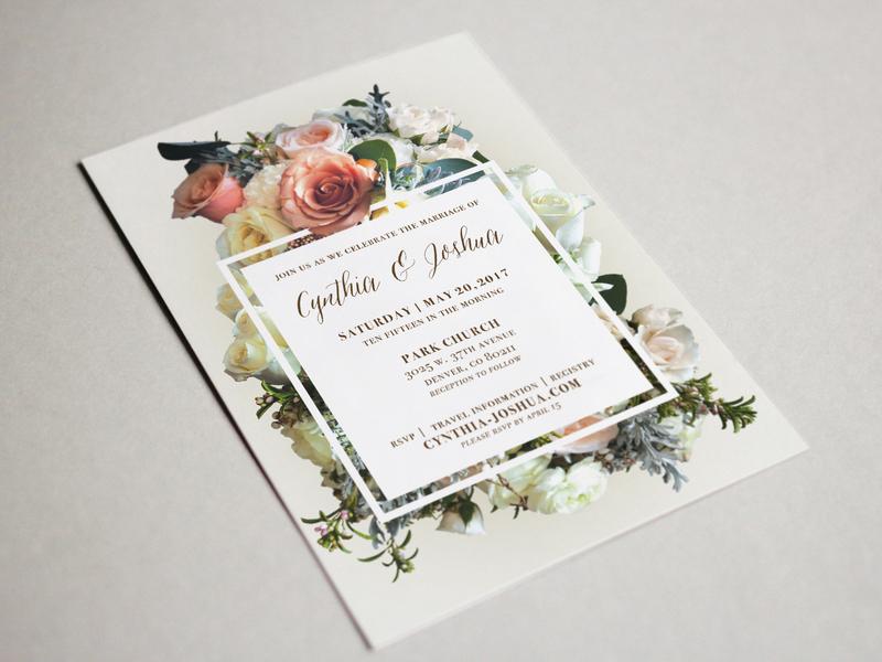 Josh Invitation formal wedding card flowers print wedding invitations wedding invitation wedding invite wedding