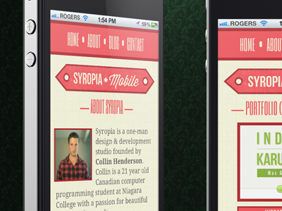Syropia mobile dribbble