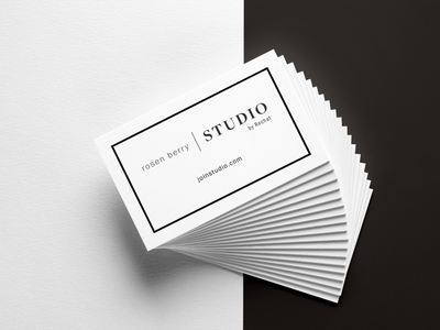 Studio by Rechat real estate agents print design clean high end real estate real estate business card brand strategy brand identity branding