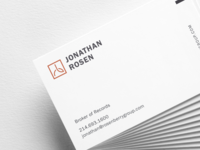 Studio by Rechat back info luxury brand high end real estate brand strategy brand design print business card real estate